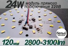 Модуль 24W (холод) 120 мм / 2800-3100 Lm / 220V