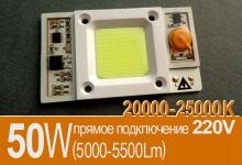 Модуль COB 50W (холод) / 220V