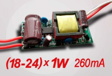 LED драйвер N (18-24) х 1W, 260 mA